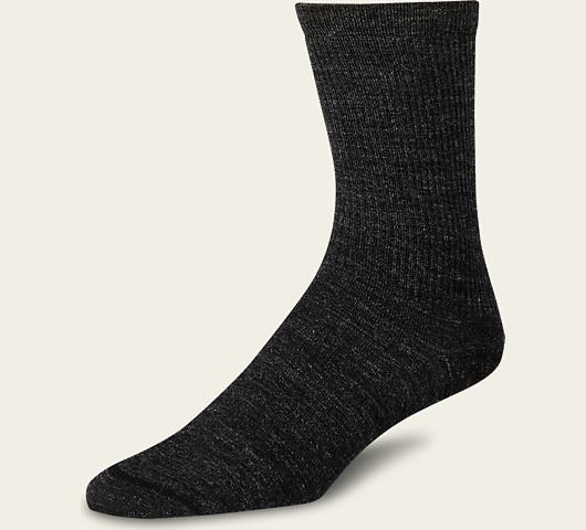 Red Wing 97337 Women's Wool Crew Liner Socks Charcoal