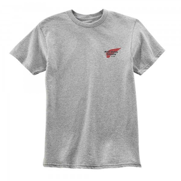 Red Wing T-Shirt 95081 Archive Logo Light Grey