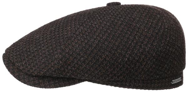 Stetson 6 Panel Kappe Wolle Struktur Braun