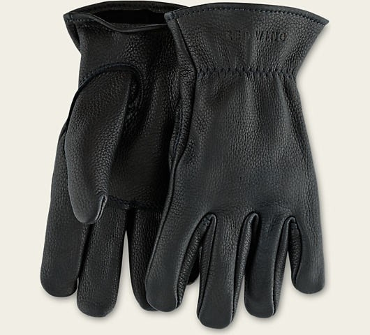 Red Wing 95236 Black Unlined Buckskin Gloves