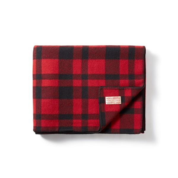 Filson Mackinaw Blanket Red Black