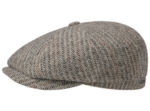 Stetson Hatteras Virgin Wool Herringbone Grey 6840510 331