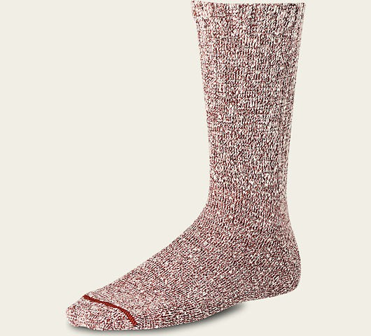 Red Wing 97169 Cotton Rag Crew Socks Rust