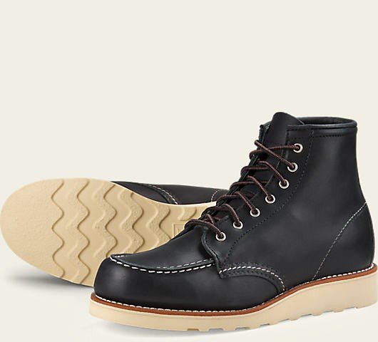 Red Wing 3373 6 Inch Moc Toe Schwarz Damen