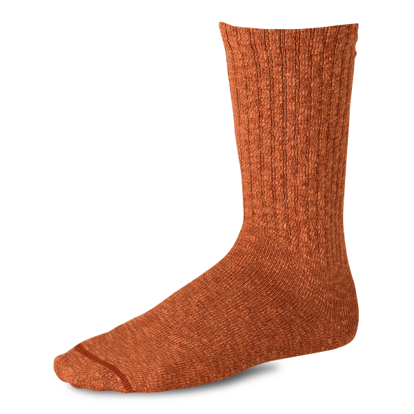 Red Wing 97371 Over-Dyed Cotton Ragg Socks Rust / Orange Unisex