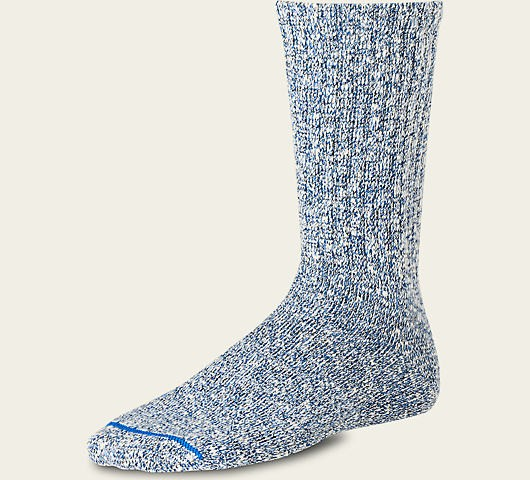 Red Wing 97168 Cotton Rag Crew Socks Blue Unisex
