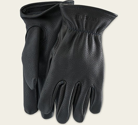 Red Wing 95232 Black Buckskin Leather Lined Gloves