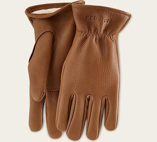 Red Wing 95230 Gloves Carmel Buckskin Lined