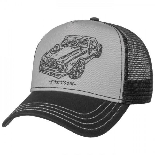 Stetson Trucker Cap Muscle Car Black/Grey Herren.