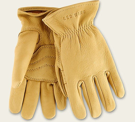 Red Wing 95233 Unlined Gloves Yellow Deer Skin