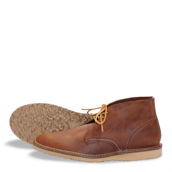 red wing 3322 weekender chukka copper rough