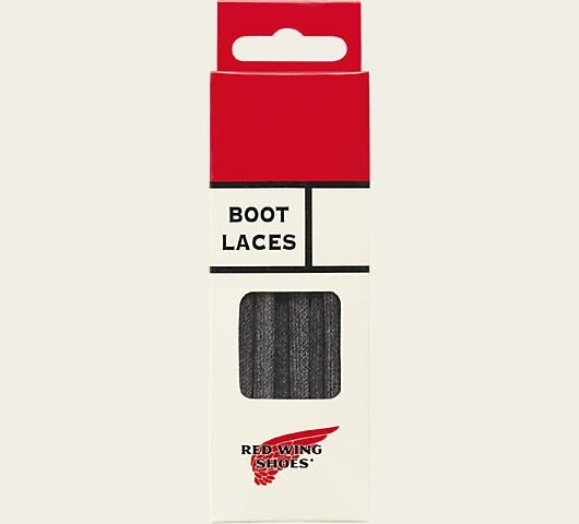 Red Wing Boot Laces 48 Inch Black Flat Waxed 97155