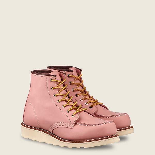 Red Wing 3387 Womens Moc Toe Rose Boundery Leather