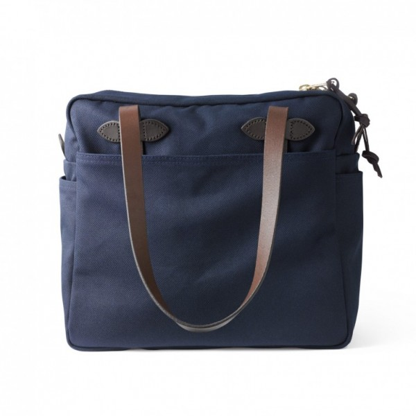 Filson Tote Bag With Zipper Navy