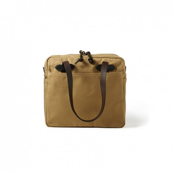 Filson Tote Bag With Zipper Tan