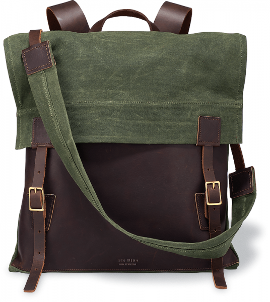 Red Wing 95067 Weekender Backpack Briar Oil Slick / Olive Waxed Canvas unisex