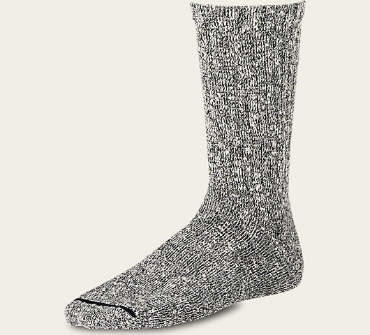 Red Wing 97167 Cotton Rag Crew Socks Black