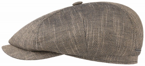 Stetson 4 Panel Cap Linen Cotton Braun