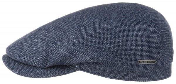 Stetson Driver Cap Virgin Wool Linen Blau Herren 6380107 23