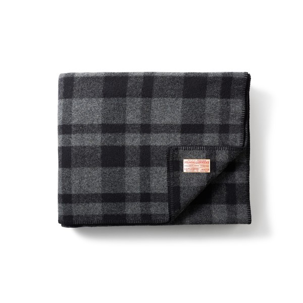 Filson Mackinaw Blanket Grey Black