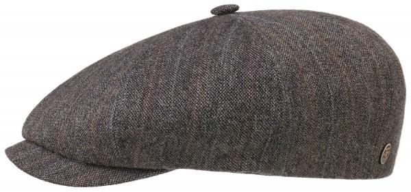 Stetson 8 Panel Kappe Leinen Wolle Streifen Braun 6816701 636